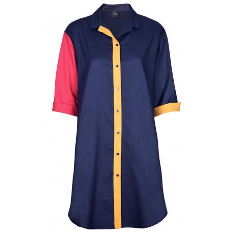 Chemise de nuit boutonnée en coton ESCALE 805