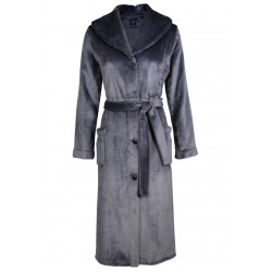 Fur button-down dressing gown in ESSENTIEL H50A Vison