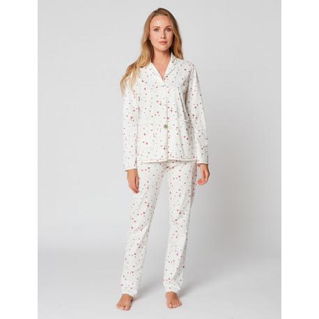 Pyjama boutonné en coton LATTE 906