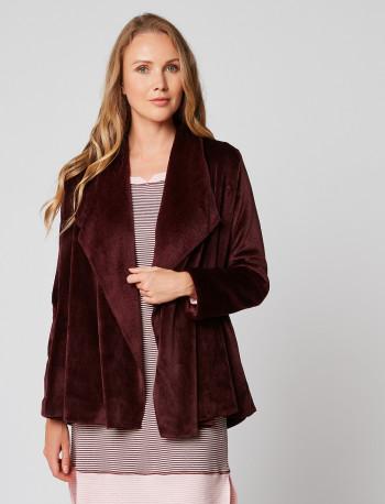 Veste homewear en fourrure ESSENTIEL H73A Prune