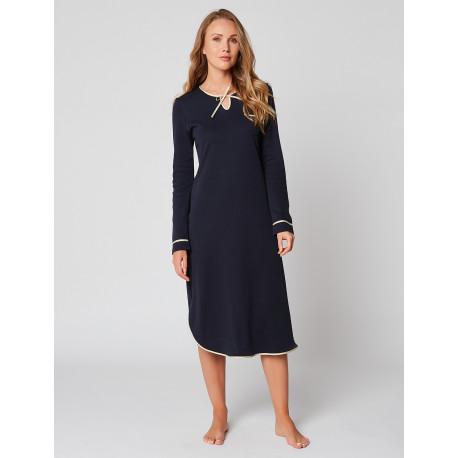 Button-down nightdress 100% cotton ESSENTIEL ESSENTIEL H05A Marine