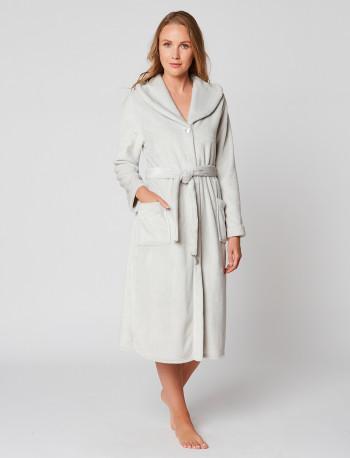 Fur Button-down dressing gown in ESSENTIEL H50A Brume