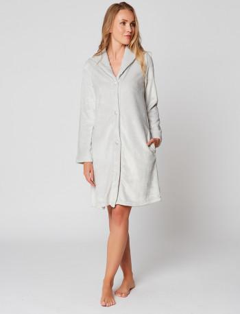 Fur Button-down dressing gown in ESSENTIEL H55A Brume