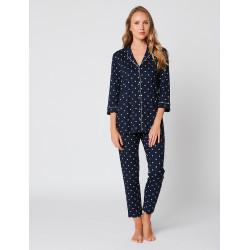 Pyjama short à pois BELLAGIO 100