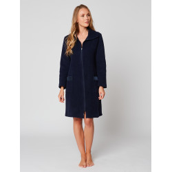 Zipped dressing gown in ESSENTIEL H54A Nuit