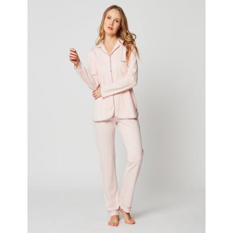 Pyjama boutonné en coton ESSENTIEL H06A Bois de rose