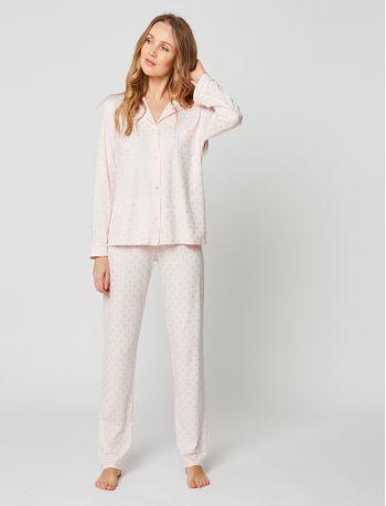 Pyjama boutonné CALINE 206 Rose