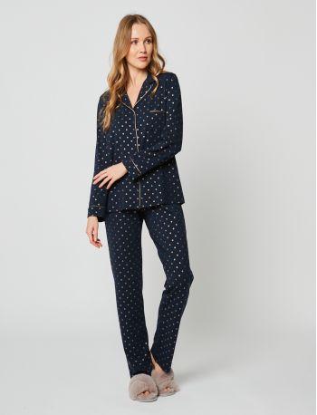 Pyjama boutonné CALINE 206 Marine