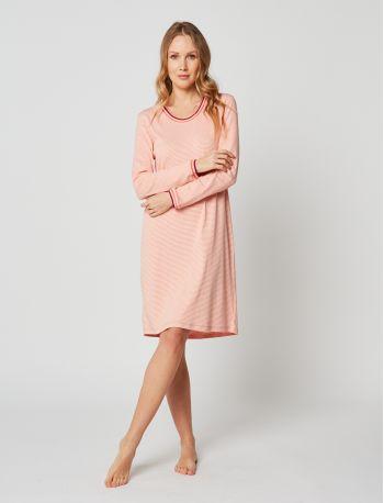Chemise de nuit coton PARESSE 201 Rose chiné