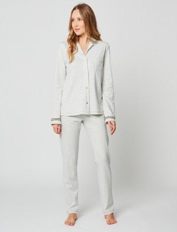 Pyjama boutonné COCOON 206 Gris chiné