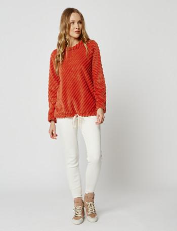 Sweatshirt en fourrrure ESSENTIEL H30A Cannelle