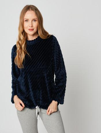 Sweatshirt en fourrrure ESSENTIEL H30A Marine