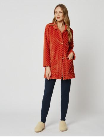 Veste homewear en fourrure ESSENTIEL H75A Cannelle