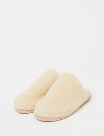 Chaussons en laine DOLLY naturel