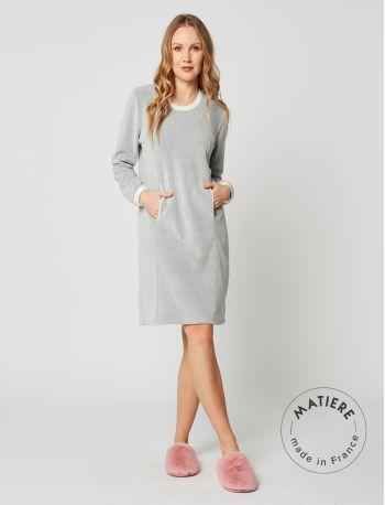 Microfleece nightdress SWEET 201 Grey