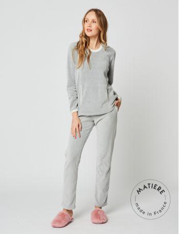 Pyjama micropolaire SWEET 202 Gris