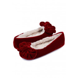 Ballerines VELOURS rouge
